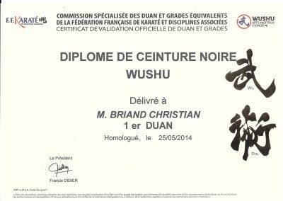 Diplôme 1er Duan