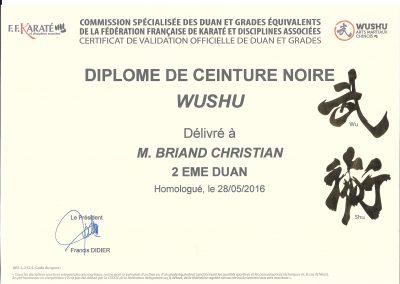 Diplôme 2ème Duan