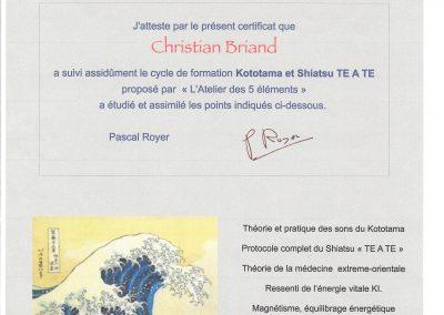 Certificat de kototama